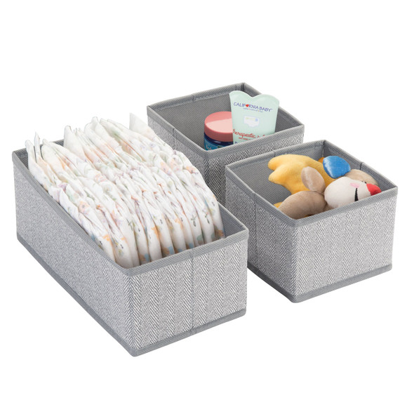 Fabric Drawer Organizers for Baby + Kids - Multiple Sizes