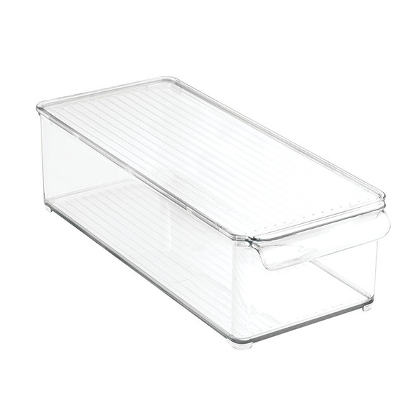 "Plastic StackableStorage Bin with Lid - 14.5"" x 6"" x 4.25"""