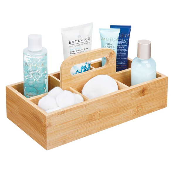 Bamboo Bath Storage Caddy - 6 Sections