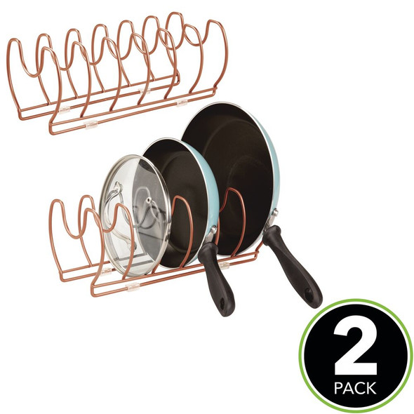 Metal Cookware Organizer in Copper Finish - Pack of 2