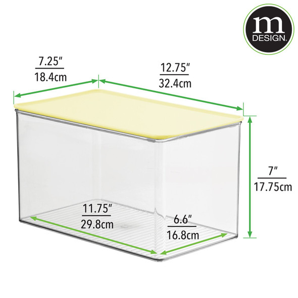 Plastic Toy Storage Container with Contrast Lid - Pack of 4