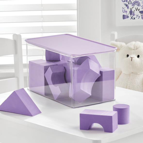 Plastic Toy Storage Box with Lid - Pack of 2