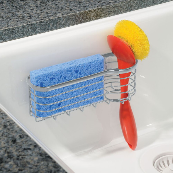 Sink Suction Storage Caddy with Sponge + Brush Holder