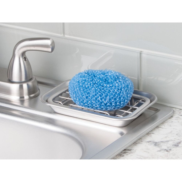 Metal Kitchen Sink Tray, Soap Dish / Sponge Holder