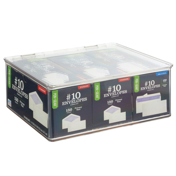 Plastic Stackable Storage Boxes - Pack of 4