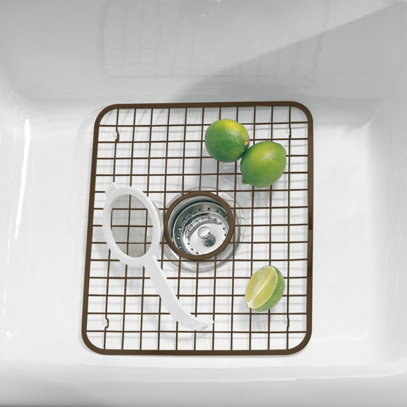 Metal Grid Kitchen In Sink Protector Mat/Drying Rack, Pack of 2