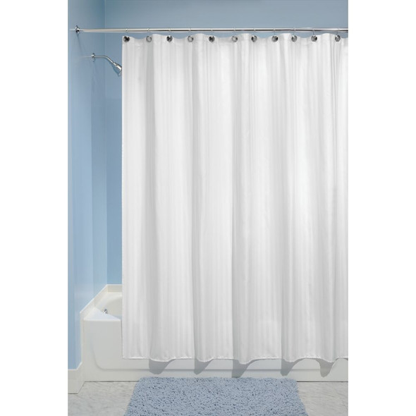 Water Repellent Fabric Shower Curtain Liner 72 x 84, White