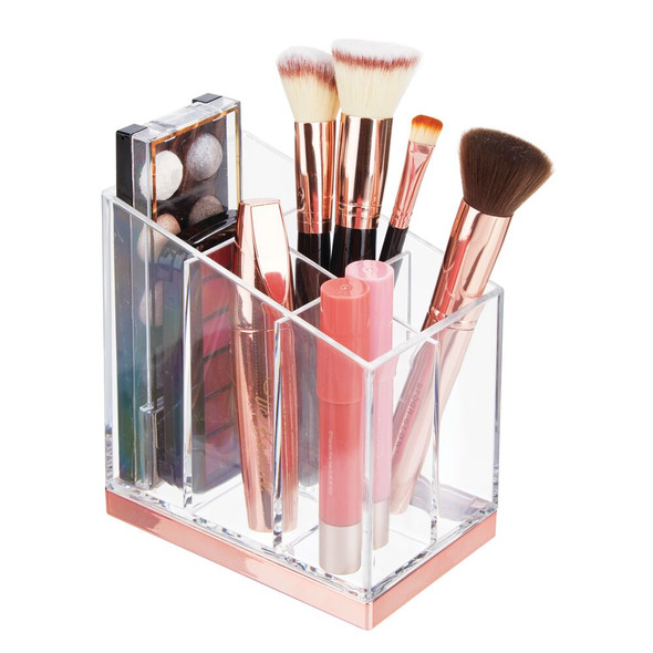5 Compartment Vertical Plastic Makeup Cosmetic Storage Organizer