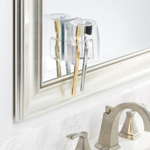 Wall Suction Toothbrush Holder with Dust Guard