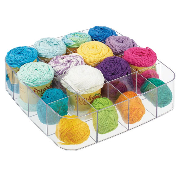 16 Compartment Plastic Storage Organizer