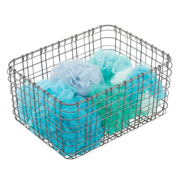 Wire Storage Baskets for Bath - Pack of 3
