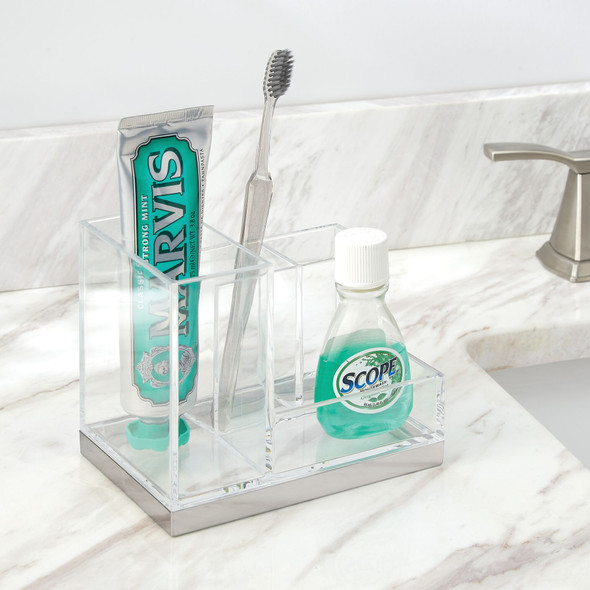 Countertop Toothbrush / Toothpaste Holder Stand for Bathroom