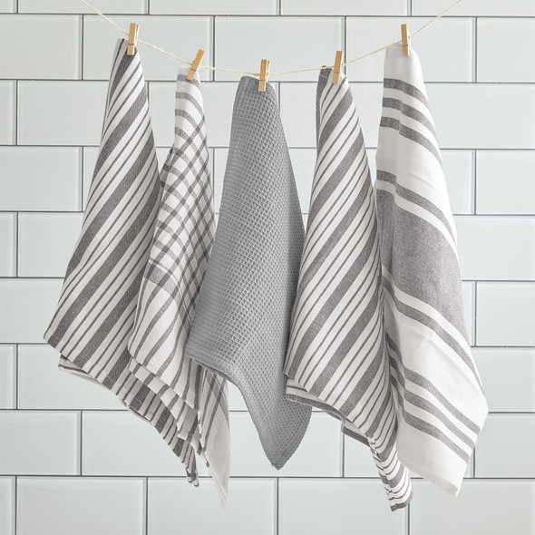 Kitchen Towel Set with Waffle Texture - Pack of 6