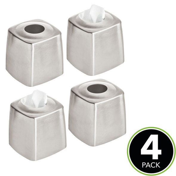 Metal Square Facial Tissue Box Cover Holder 4 Pack