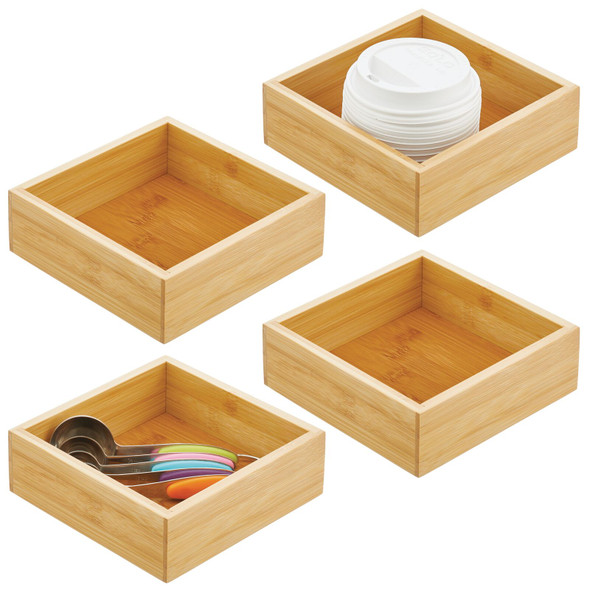 Bamboo Square Stackable Trays