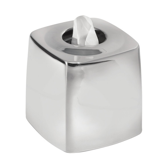 Metal Tissue Box Cover in Polished Chrome - Pack of 4