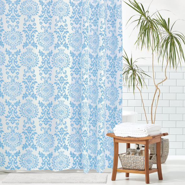 """Damask Printed Shower Curtain - 72"""" x 84"""""""