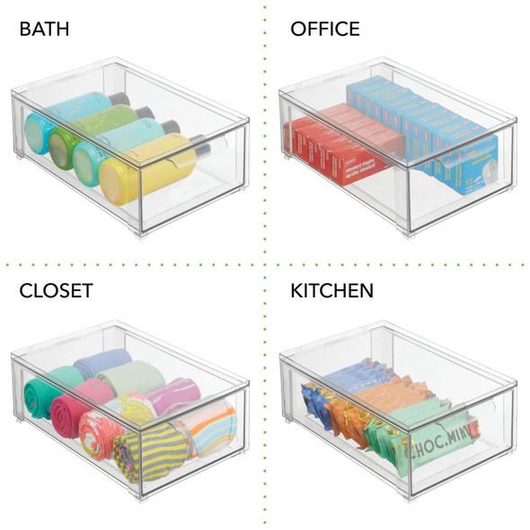 Plastic Stackable Shoe Storage Drawer Organizer