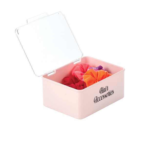 Plastic Stackable Bath Storage Bins with Labels