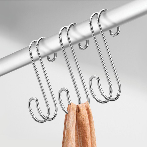 Metal Over Rod Hanging Accessory Storage S Hook