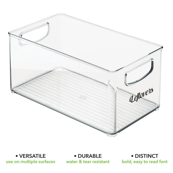 Open Top Plastic Kitchen Bins with Labels - Pack of 2