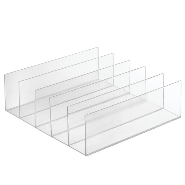 5 Section Clear Office Organizer