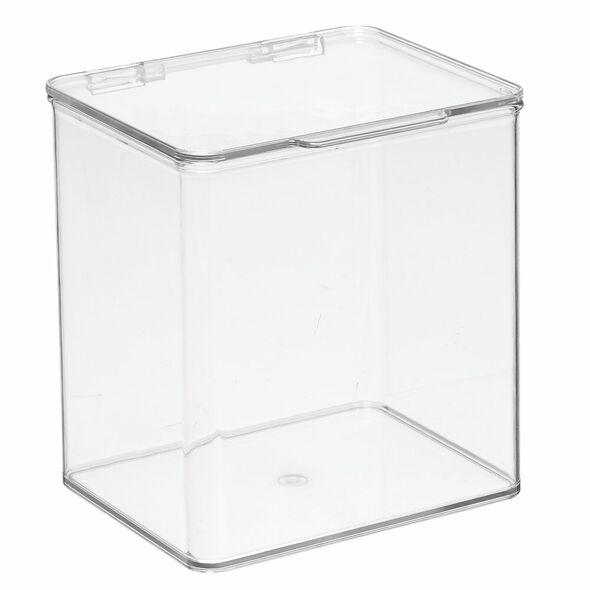 Clear Desk Supply Storage Box with Lid