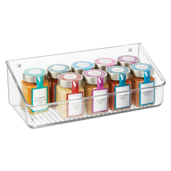 Clear Wall Mount Shelves - Pack of 4