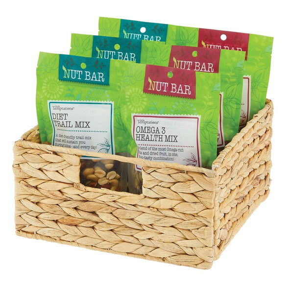 "Hyacinth Pantry Storage Basket - 10.5"" x 10.5"" x 5.25"""