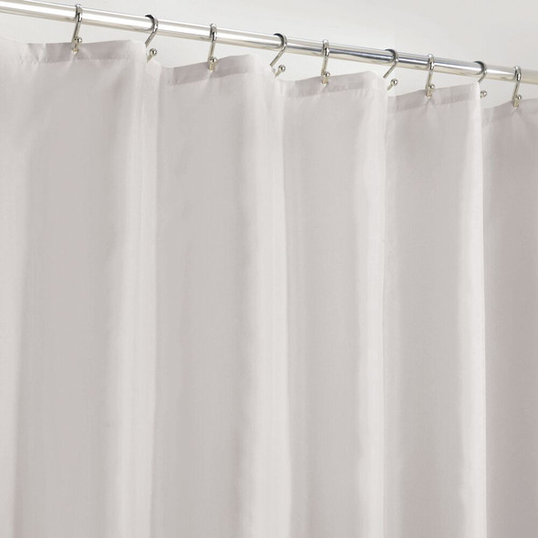 """Polyester Shower Curtain in Cloud Gray with Liner - 108"""" x 72"""""""