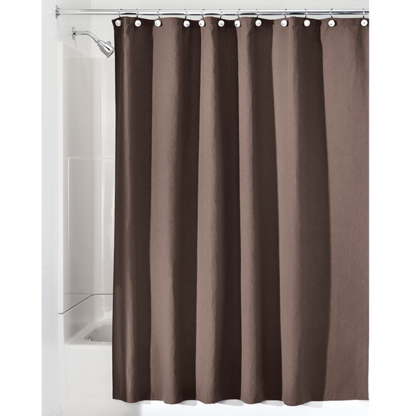 "Polyester Shower Curtain in Chocolate - 72"" x 72"""