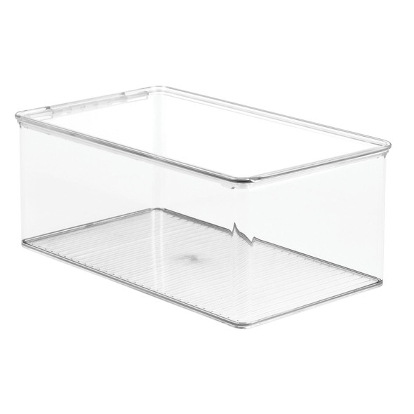 Clear Plastic Kitchen Storage Box with Lid - Pack of 2