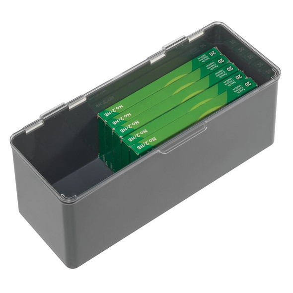 Long Plastic Storage Box with Hinged Lid