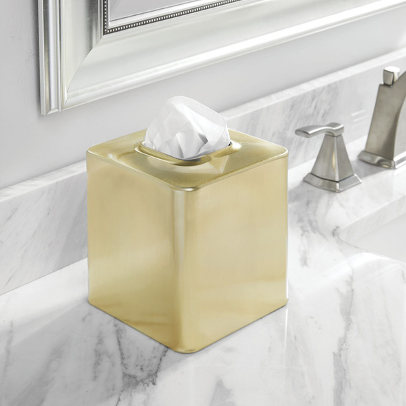 Square Metal Tissue Box Cover - Pack of 4