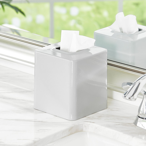 Square Metal Tissue Box Cover - Pack of 2