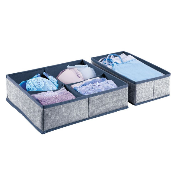 Fabric Drawer Organizers for Closet - Set of 2