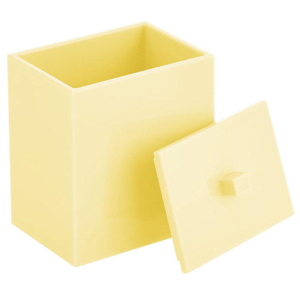 Square / Plastic Bathroom Vanity Storage Canister Jar