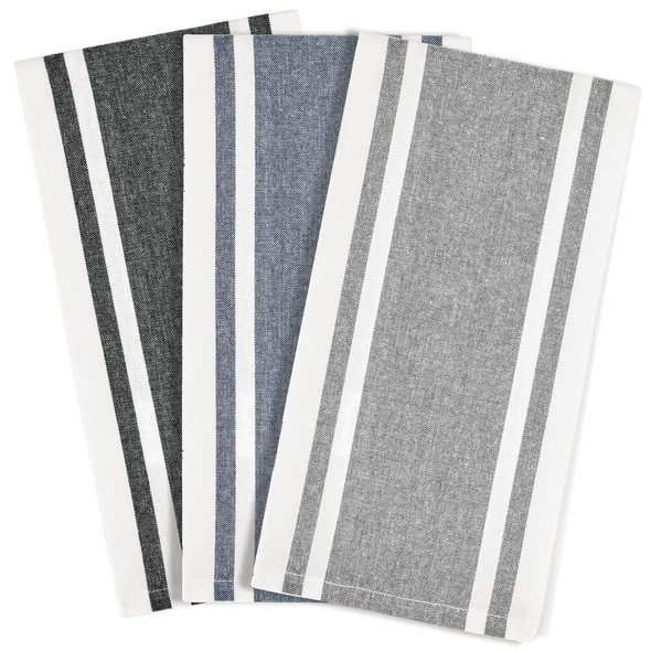 Kitchen Towel Set with Striped Pattern - Pack of 3