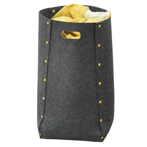 Collapsible Fabric Laundry Hamper Basket With Plastic Buttons