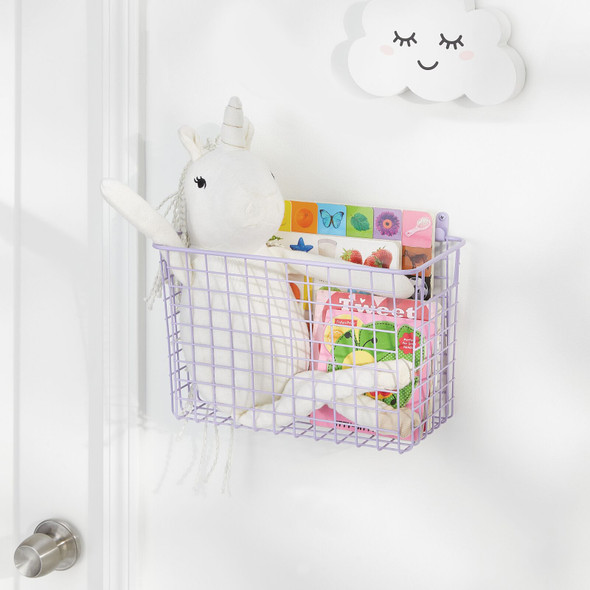 Large Wire Wall Mount Basket for Bath Storage