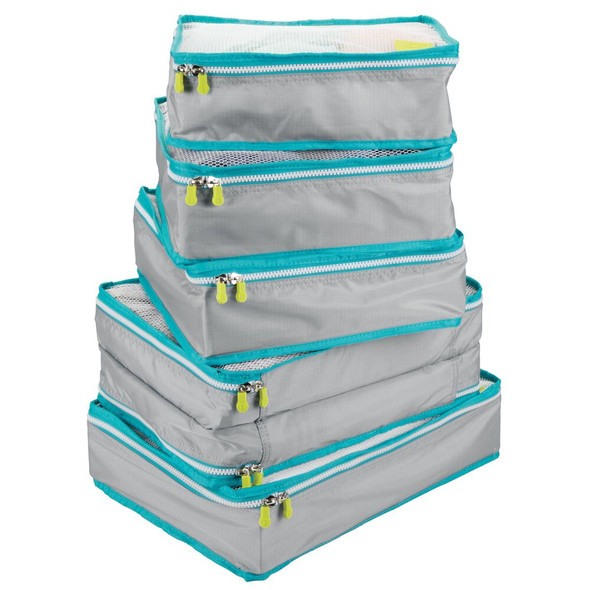 Travel Storage Cubes with Contrasting Zipper - Set of 5