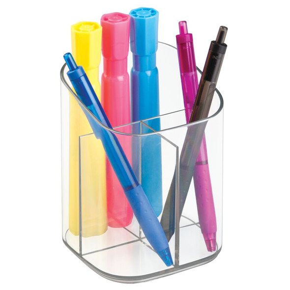 Home Office Desk Organizer Pencil Cup - Clear