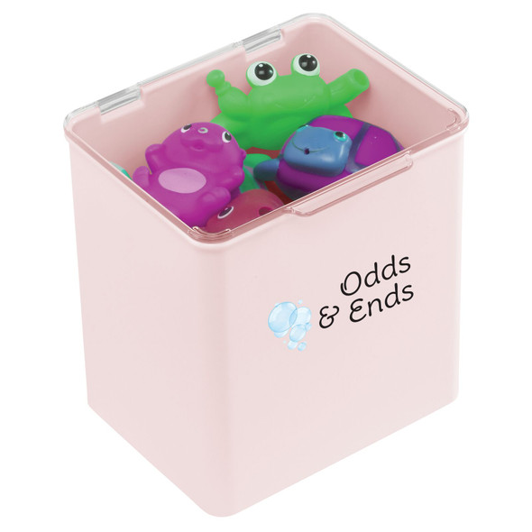 """Plastic Toy Bin with Labels - 5.5"""" x 6.6"""" x 7"""""""