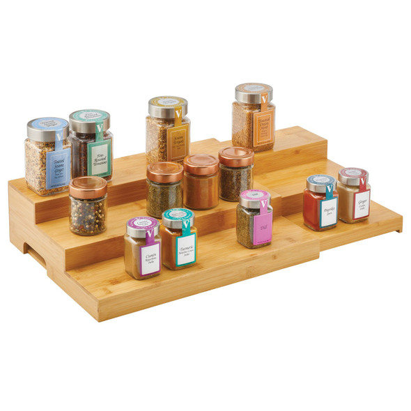 3 Tier Bamboo Expandable Spice Rack