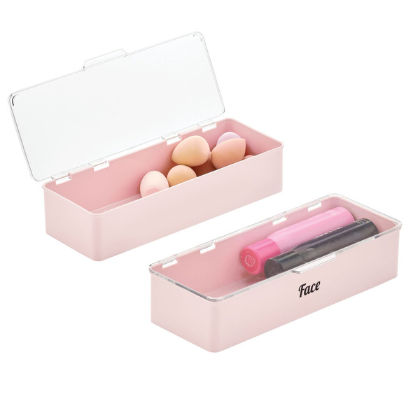 Cosmetic Bins with Labels - 5.5 x 13.3 x 3