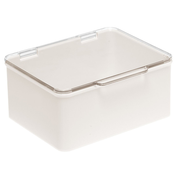 Plastic Kitchen Stackable Box with Clear Lid - Set of 8