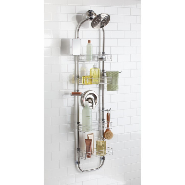 Metal Handing Shower Caddy in Brushed Stainless Steel