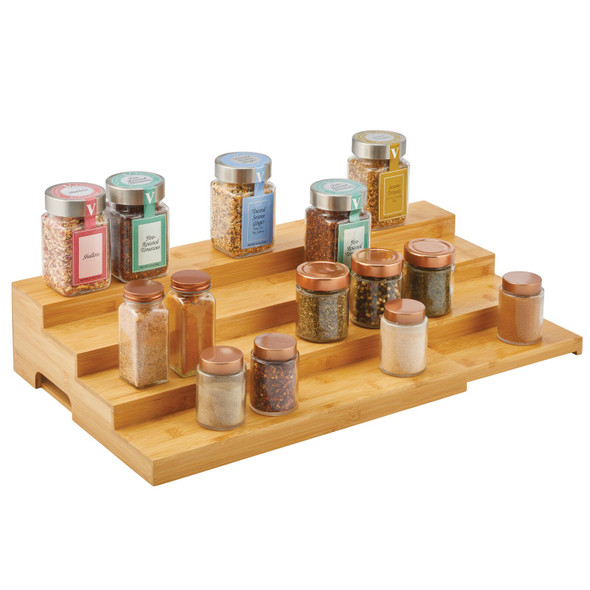 4 Tier Bamboo Expandable Spice Rack