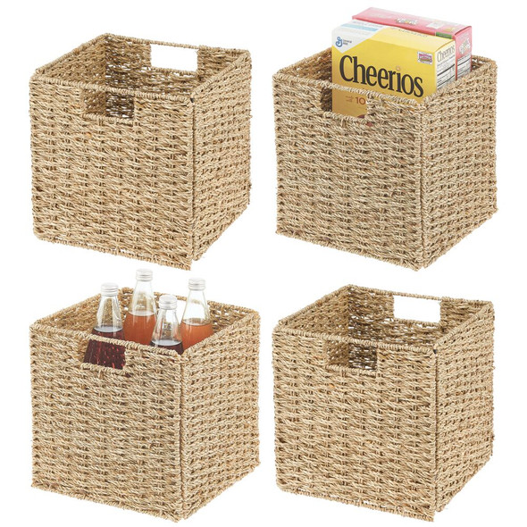 Seagrass Folding Pantry Cubes - Pack of 4