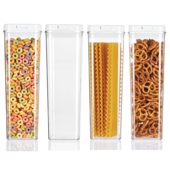 Tall Airtight Food Storage Canister - Pack of 4